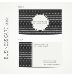 Vintage creative simple monochrome business card vector image