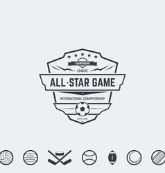 Championship emblem vector image vector image