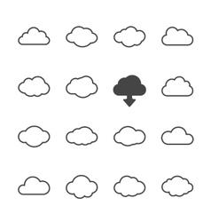 Cloud shapes set vector image vector image