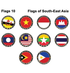 Flags of South-East Asia vector image