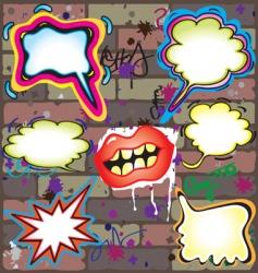 graffiti thought bubbles vector image