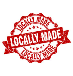 Locally made stamp sign seal vector