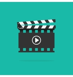 Clapperboard icon isolated clapboard slate vector image