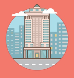 Flat of city skyscraper vector image