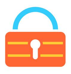 flat padlock icon lock sign password button vector image