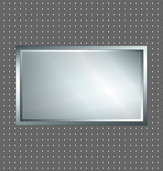 Silver and grey metallic sign vector image vector image