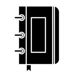 sketchbook - notebook icon vector image