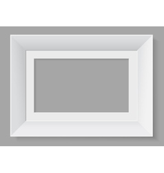 White frame isolated on grey background vector image
