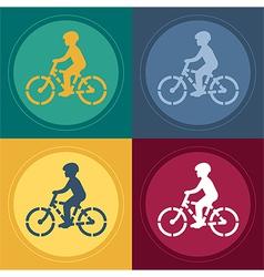 Young Biker Stencil vector image
