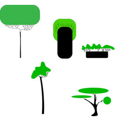 abstract stylized trees natural vector image