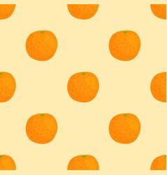 cartoon freshorange fruits in flat style seamless vector image vector image