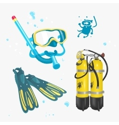 Diving Icon Set vector image vector image