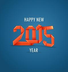 Happy New 2015 year vector image