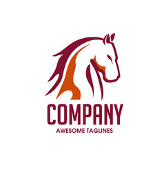 horse head design image vector image