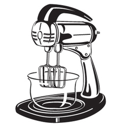 Kitchen mixer vector image