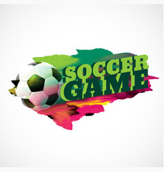 Abstract football background with paint effect vector