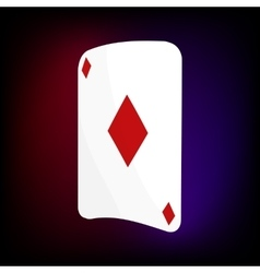 Ace of diamonds card icon cartoon style vector image
