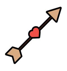arrow love heart cupid romance image vector image
