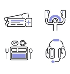 aviation icons set vector image