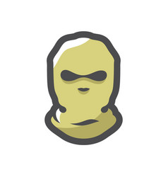balaclava crime mask theft cartoon vector image