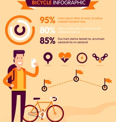 Bicycle Infographic vector image vector image