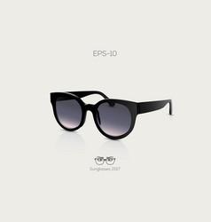black fashion sunglasses modern trendy sunglasses vector image