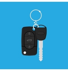 Car Key with alarm and chain vector image