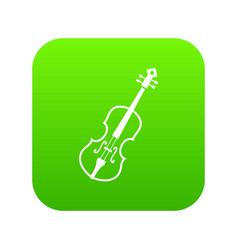 cello icon digital green vector image