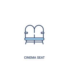 Cinema seat concept 2 colored icon simple line vector