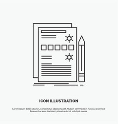 component data design hardware system icon line vector image