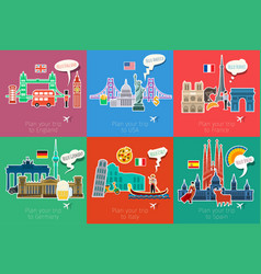 concept travel or studying languages vector image