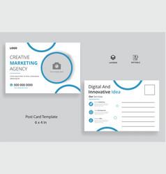 Corporate business postcard vector