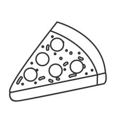 delicious pizza fast food icon vector image