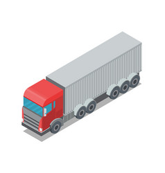 design of trailer container vector image