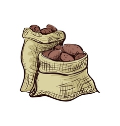 Doodle sack of potatoes vector