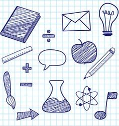 Education sketches vector