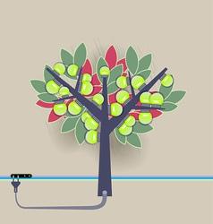 Electrical bulbs plugged tree vector
