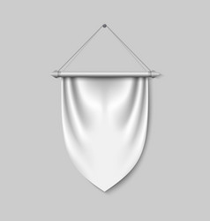 Empty 3d pennant template vector