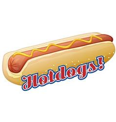Fast food hotdog vector image