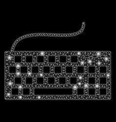 Flare mesh carcass wired keyboard with flare spots vector
