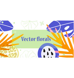 flowers and fruits with copy space vector image