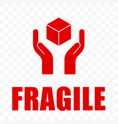Fragile icon handle with care logistics shipping vector