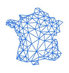 france map blue geometric polygonal design lines vector image