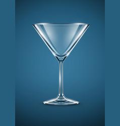 glass goblet for martini vector image