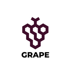 Grapes logo design vector