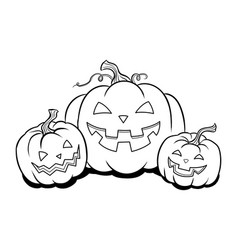 halloween pumpkin coloring book vector image