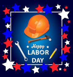 happy labor day banner design template il vector image