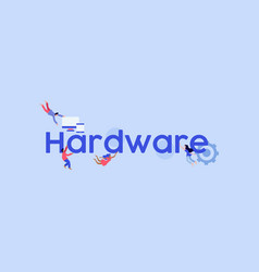 Hardware technological computer vector