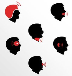 Head and facial pain as flat icons vector