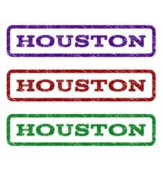 Houston watermark stamp vector